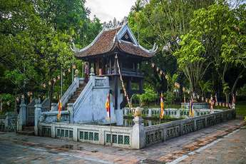 The One Pillar Pagoda, a legendary symbol of Hanoi