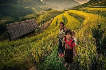 Rice terraces of Mu Cang Chai, a masterpiece of the Hmong