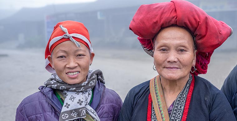 Ethnic groups in Sapa Vietnam