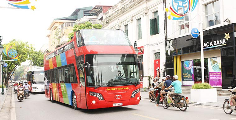Open top bus in Hanoi will run from today