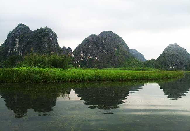Beauty of Van Long in Ninh Binh in March