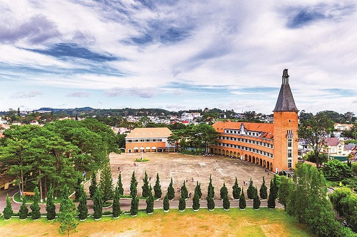 Former Yersin High School in Dalat
