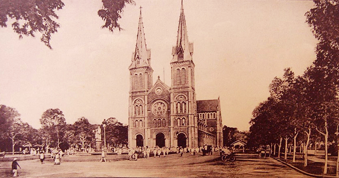 Notre dame cathedral saigon 20s