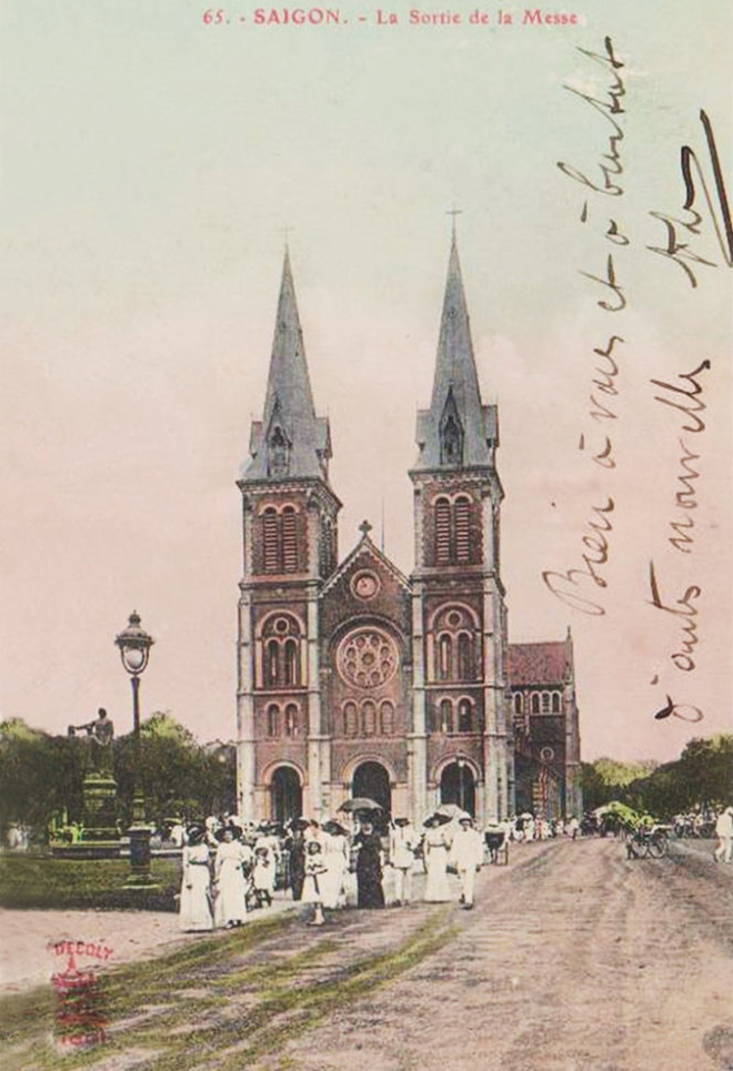 Notre dame cathedral saigon 30s
