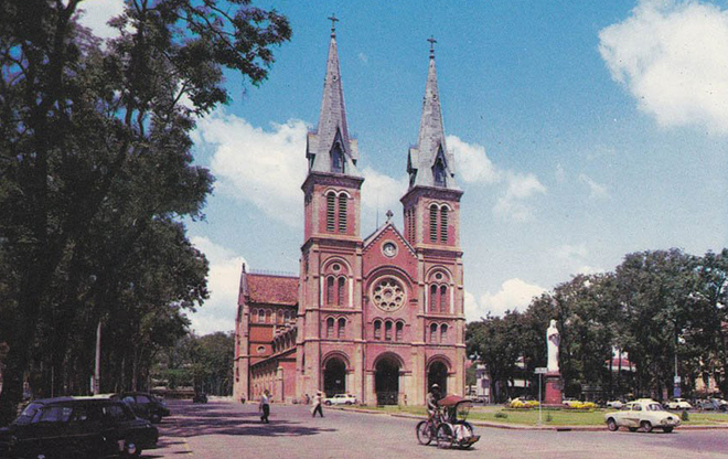 Notre dame cathedral saigon 70s
