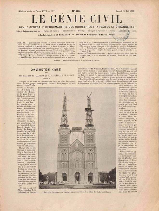 Notre dame cathedral saigon on the newspaper