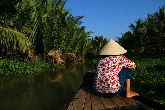 ben tre vietnam top things to do rowing boat ride