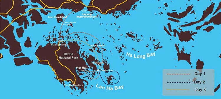 choose cruise in halong cat ba lan ha