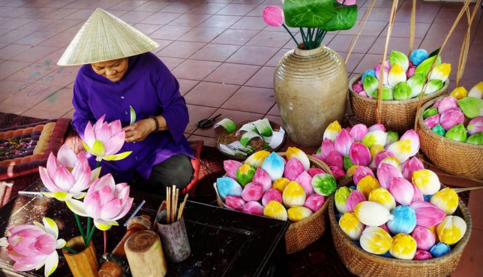 craft villages of hue paper flower