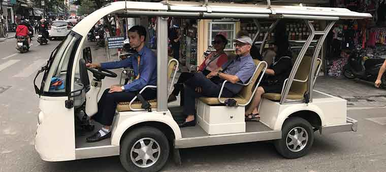 electric car in hanoi city