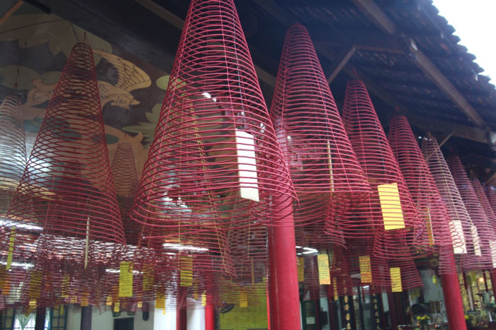 fujian assembly hall hoi an city incense