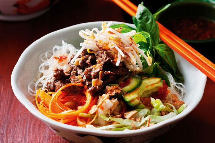 heritage cuisine of hue pork grilled noodle