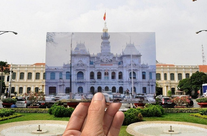 ho chi minh city hall now and then