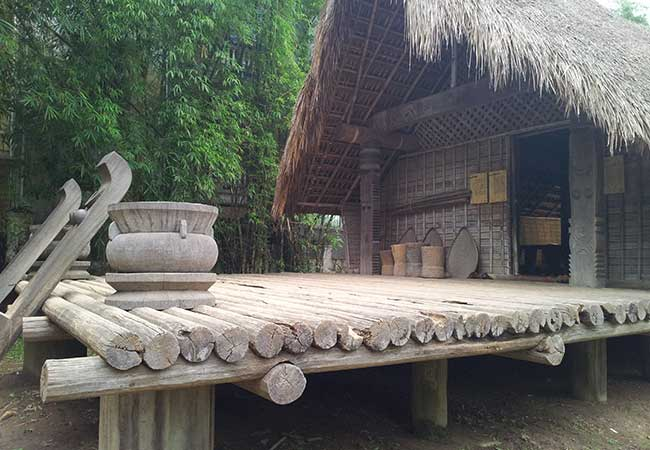 A house in outdoor display Vietnam museum of Ethnology