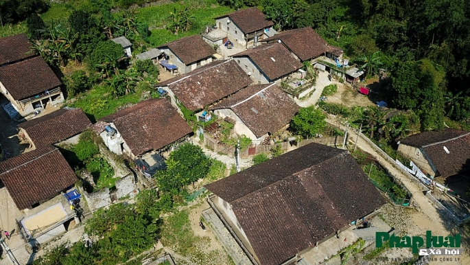 khuoi ky village from the above