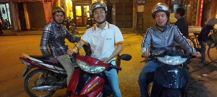 motorbike taxi in hanoi city