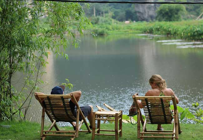 relaxing at homestay in ninh binh