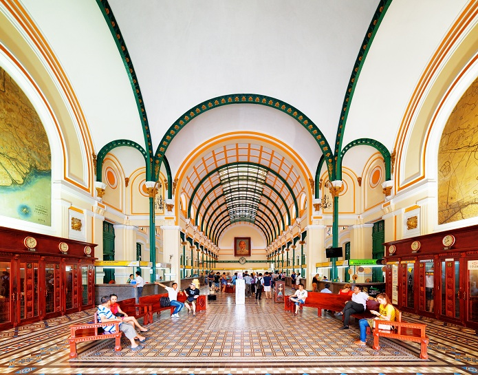 saigon central post office inside