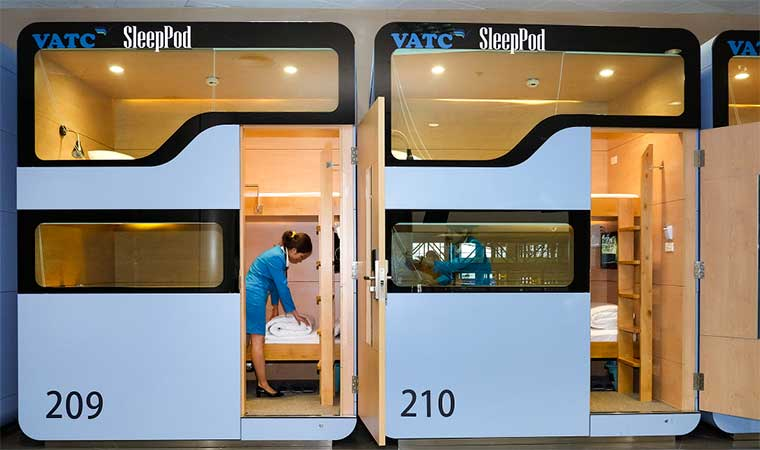 sleepingpod at noi bai airport