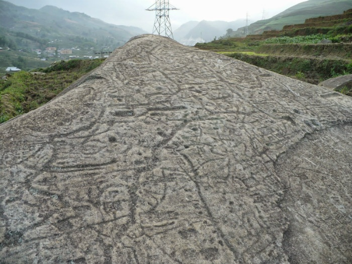 stone field in sapa vietnam engravings