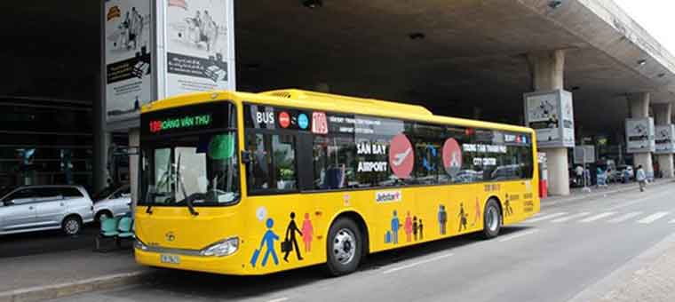 bus at tan son nhat airport