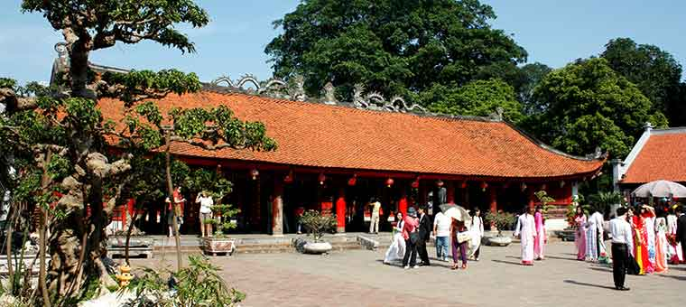 temple of literature in hanoi city