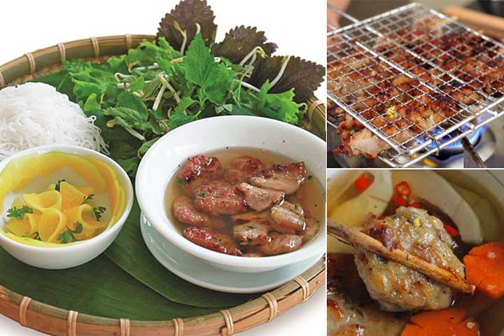 top 10 dishes bun cha hanoi