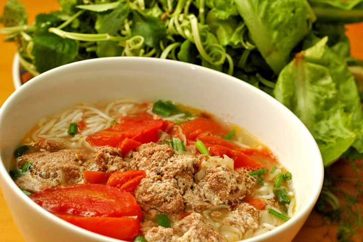 top 10 dishes bun rieu hanoi