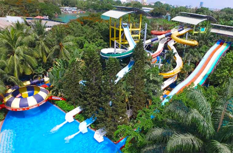 tourist attraction in sai gon - Dam sen water park