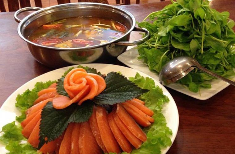typical sapa dishes salmon hotpot