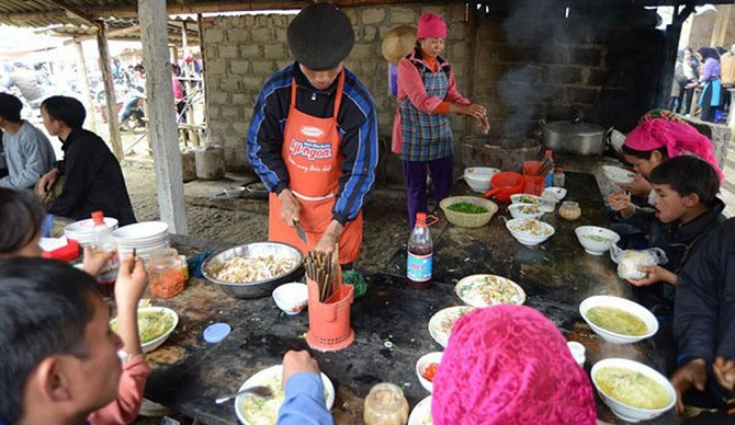 vietnamese pho in ha giang moutain