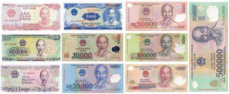vietnamese-currency-different-value