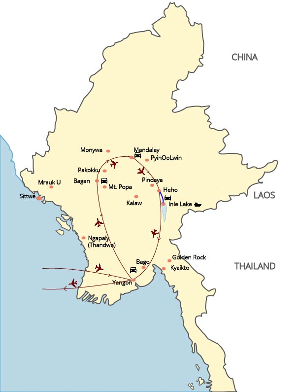 Myanmar at a Glance - 06 Days