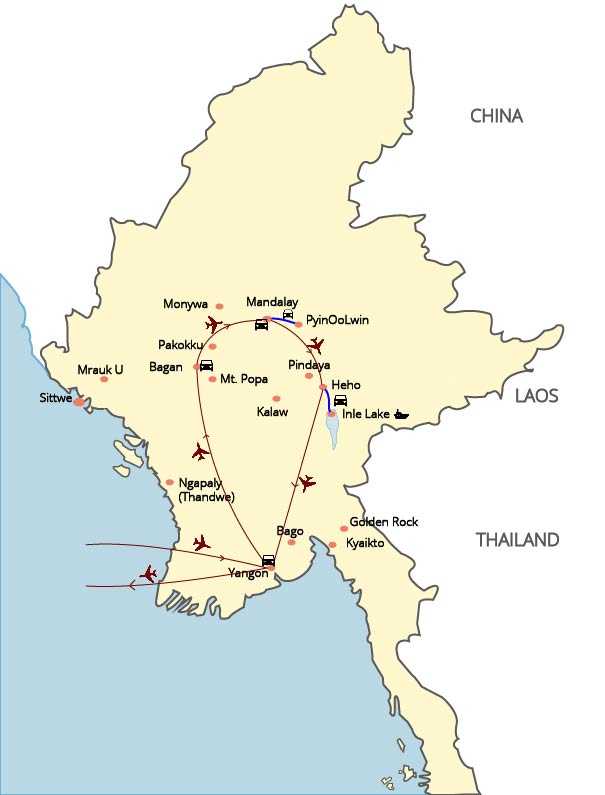 Best of Myanmar Discovery - 10 Days