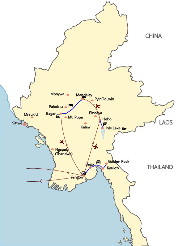 Myanmar culture exploration - 12 Days